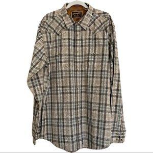 Wrangler Retro Men's Pearl Snap Western Shirt 2XLT